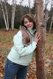 Leaning on Tree Royalty Free Stock Photography