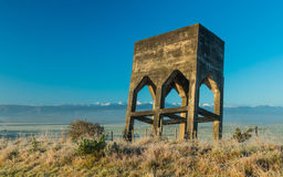 Leaning Water Tower Royalty Free Stock Images