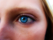 Leanne #5. Closeup of model's blue eye Royalty Free Stock Photography