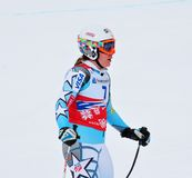 Leanne Smith auf FIS alpinem Ski-Weltcup 2011/201 Lizenzfreie Stockbilder