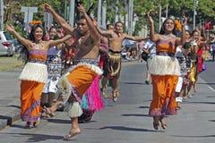 Leap of faith. Event:  98th King Kamehameha Celebration, 14.VI.14 Royalty Free Stock Photos