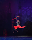 """Leap  forward  from up- ballet """"One Thousand and One Nights"""" Royalty Free Stock Photo"""