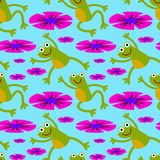 Leap frog seamless background design Royalty Free Stock Photo