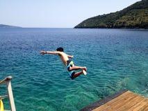 Leap of joy Royalty Free Stock Image