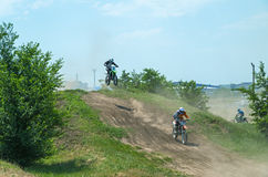 Leap motorcycle racer Royalty Free Stock Image
