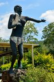 Statue of Aboriginal Kowaha woman in The Leap locality in Queensland. The Leap, Queensland, Australia - December 31, 2017. Statue of Aboriginal Kowaha woman Stock Image
