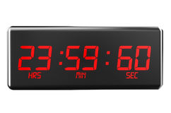 Leap second on watches Stock Image