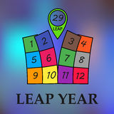 Leap year illustration Stock Image