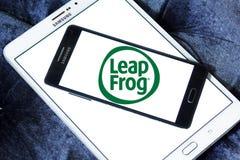 LeapFrog Enterprises logo. Logo of LeapFrog Enterprises on samsung mobile. LeapFrog is an educational entertainment and electronics company royalty free stock photo