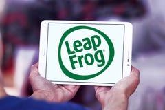 LeapFrog Enterprises logo. Logo of LeapFrog Enterprises on samsung tablet. LeapFrog is an educational entertainment and electronics company stock photos