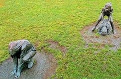 Leapfroggers de bronze Imagens de Stock