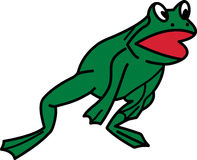 Leaping Frog Stock Image
