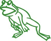 Leaping Frog Outline Stock Image