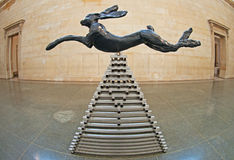 Leaping Hare by Barry Flanagan royalty free stock images