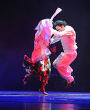 Leaping-the identity of the mystery-Tango Dance Drama Stock Photos