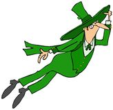 Leaping Irish leprechaun Royalty Free Stock Photography