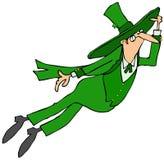 Leaping Irish leprechaun Royalty Free Stock Photography