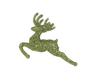 Leaping reindeer glitter Christmas ornament. Royalty Free Stock Photography