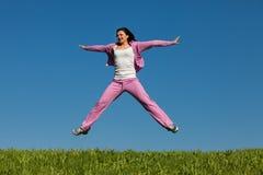 Leaps of joy Stock Image