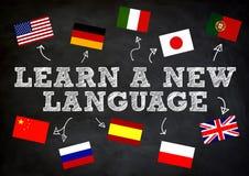 LEAR UNE NOUVELLE LANGUE Photo libre de droits