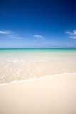 Lear waters of the Andaman sea with soft white sand royalty free stock photos