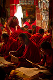 Learing monks of Drepung Monastery Lhasa Tibet Stock Images