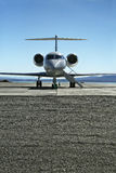 Learjet. Front View of a Lear jet on a tarmac ready to fly with passengers royalty free stock photos