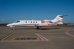 Learjet 35 Photographie stock libre de droits