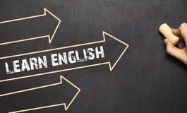Learn英语的语言学习概念 免版税库存图片