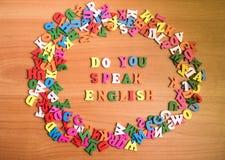Learn поговорить концепцию английского языка стоковые изображения rf