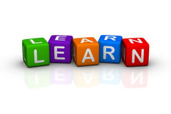 Learn. (buzzword colorful cubes series Stock Photos