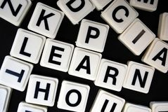 Learn. Letters spelling out the word learn Royalty Free Stock Images