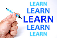 Learn. Improving your skills, career and life by learning Royalty Free Stock Photo