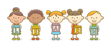 Learn alphabet block Royalty Free Stock Photo