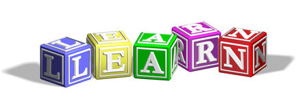 Learn alphabet blocks Royalty Free Stock Photo