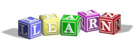 Learn alphabet blocks Royalty Free Stock Photo