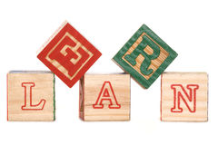 Learn alphabet blocks Stock Image