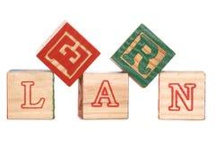 Learn alphabet blocks Stock Image