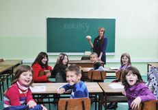 Learn biology in school Royalty Free Stock Image