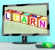 Learn Blocks On Computer Screen Stock Images
