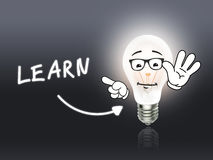 Learn Bulb Lamp Energy Light gray Royalty Free Stock Photography