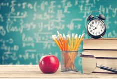 Learn concept. School background back apple blackboard fruit royalty free stock images