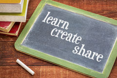 Learn, create and share ob blackboard Stock Image