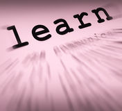 Learn Definition Displays Distance Education And Learning Royalty Free Stock Photos
