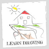 Learn Drawing Represents Develop Educated And Education. Learn Drawing Showing Schooling Sketch And Designer Stock Images