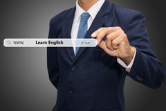 Learn English banner Royalty Free Stock Images