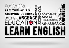 Learn English - collage concept Stock Photo