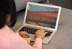Learn English concept Royalty Free Stock Images