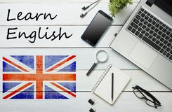 Learn English concept. Time to Learning languages.  Stock Image