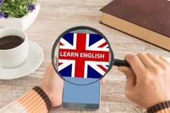 Learn English concept royalty free stock photography